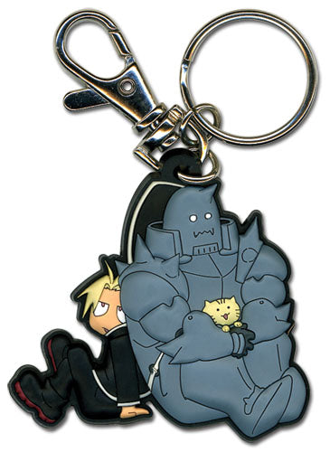 FullMetal Alchemist Brotherhood Keychain - Ed with Al and Kitty