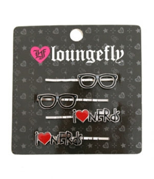 LOUNGEFLY I LOVE NERDS HAIRPINS