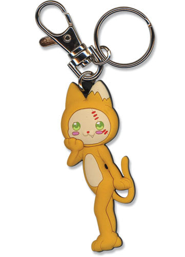 Moon Phase Cat Keychain