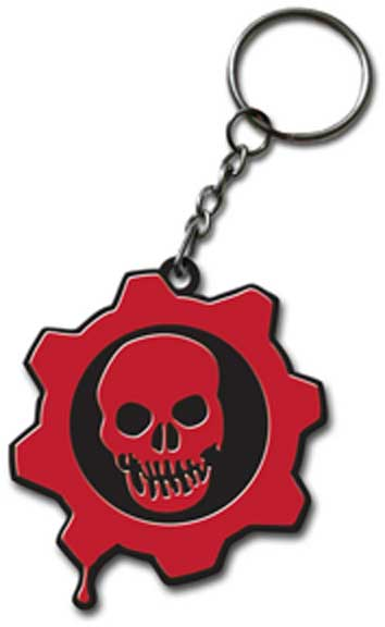 GEARS OF WAR KEYCHAIN - RUBBER CRIMSON OMEN