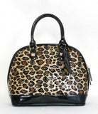 HELLO KITTY LEOPARD PATENT EMBOSSED TOTE BAG - Large