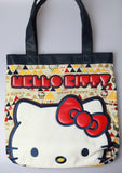 Hello Kitty Geometric Triangles Face Tote Bag