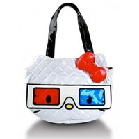 HELLO KITTY 3D GLASSES QUILTED FACE TOTE LOUNGEFLY