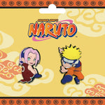 Naruto Pin Set - Naruto and Sakura