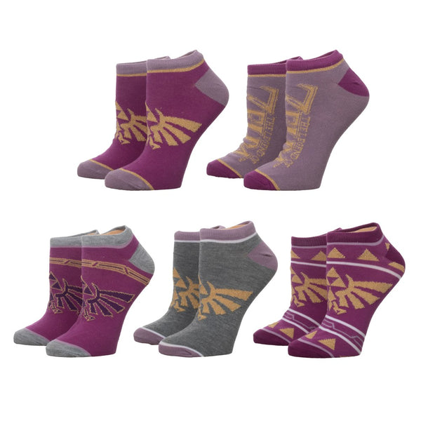 Zelda Twilight Princess 5 Pack Ankle Socks