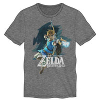 The Legend of Zelda Breath of the Wild Link Adult Shirt - Grey