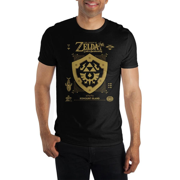 The Legend of Zelda Link's Awakening Shield Adult Shirt