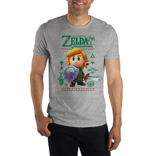 The Legend of Zelda Link's Awakening Link Adult Shirt