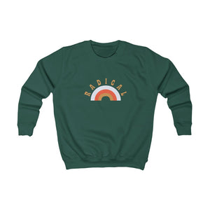Kids Radical Rainbow Sweatshirt - GVL Hustle