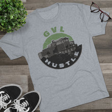 Load image into Gallery viewer, GVL Hustle Skyline Tri-Blend Crew Tee - GVL Hustle