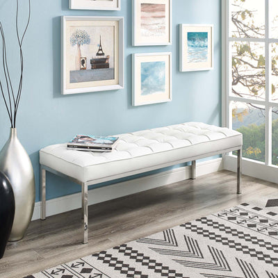 Loft Leather Bench