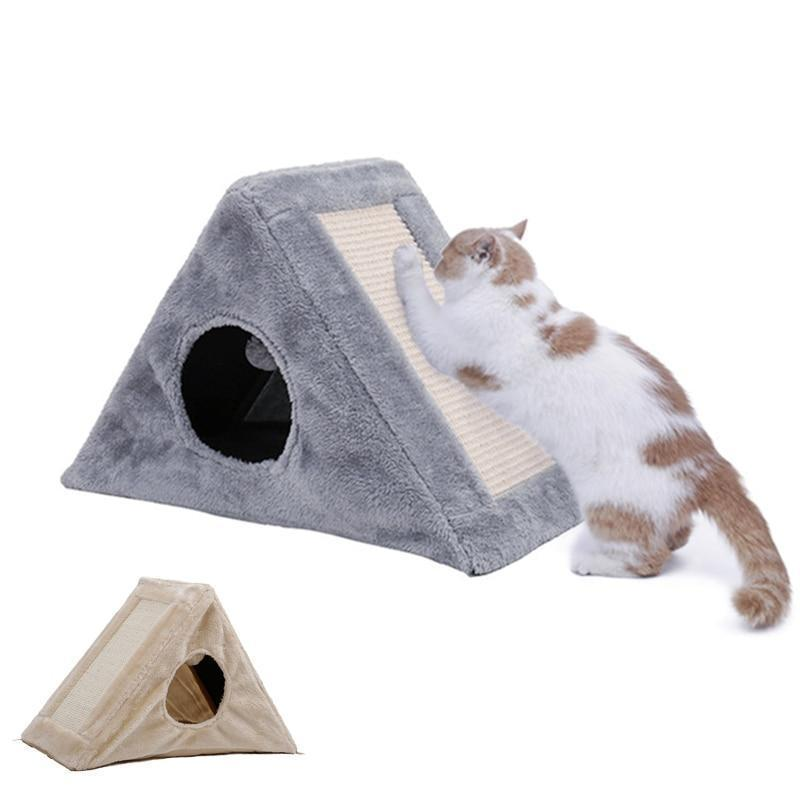 Collapsible Cat Bed And Scratcher Toy