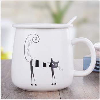 Creative Cat Ceramic Tea Cup - petshoppee.com