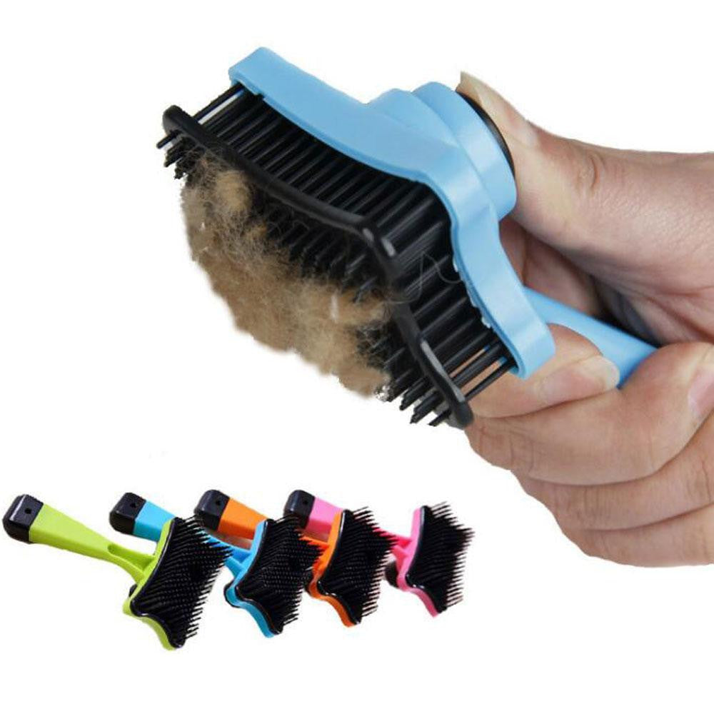 Pet Cleaning Bath Brush Self Cleaning Shedding Comb Hair Removal