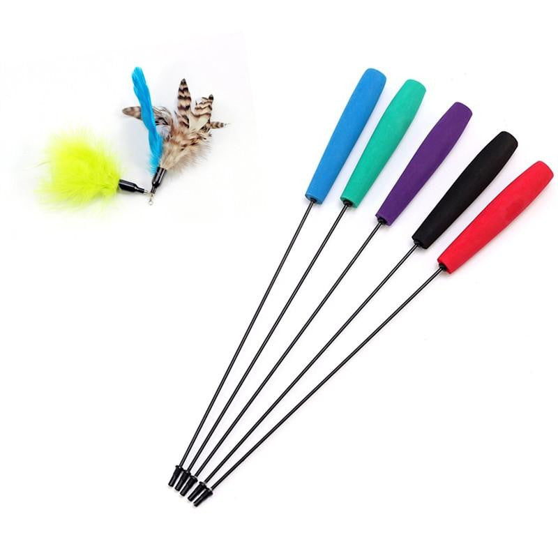 Retractable Cat Teaser Wand Stick - petshoppee.com