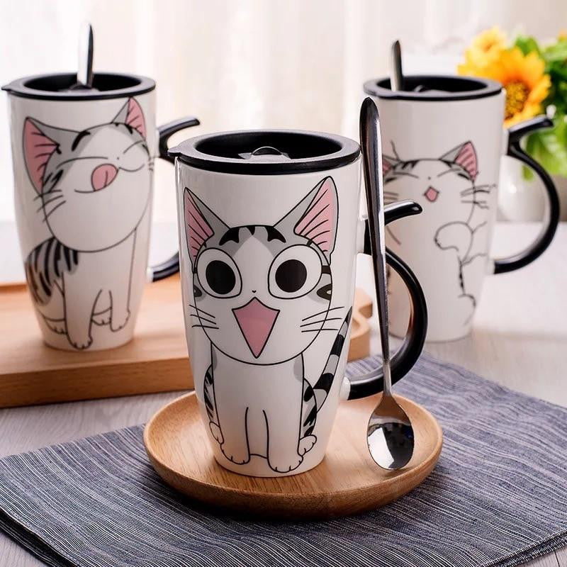 Animation Cat Ceramic Mug - petshoppee.com