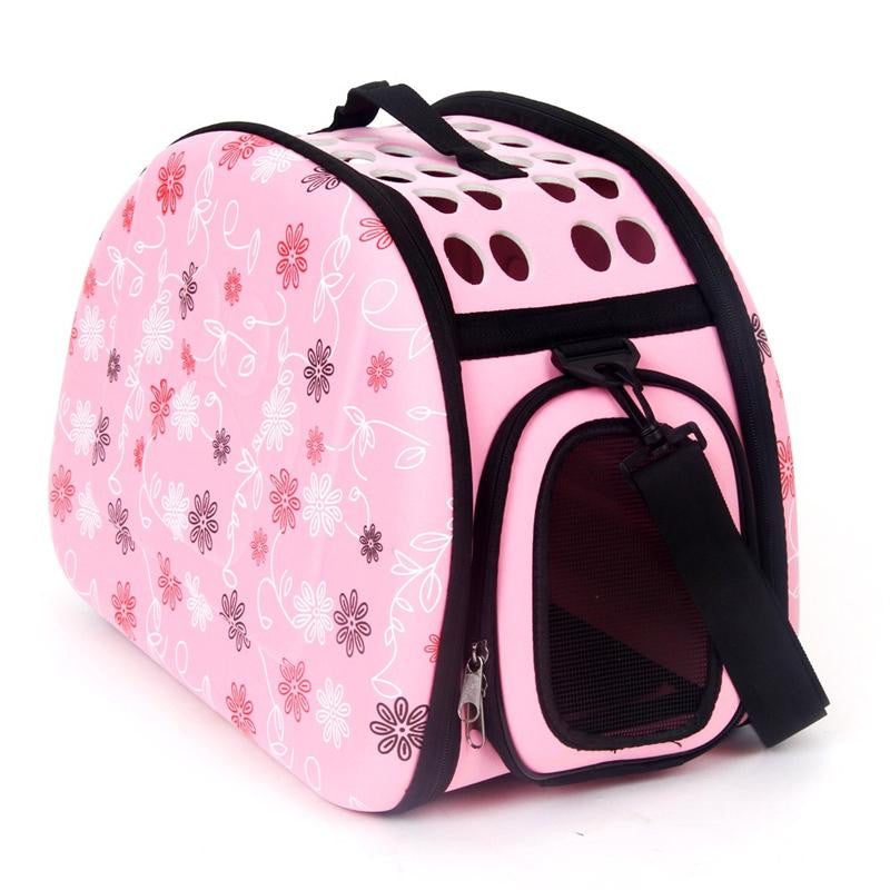 Pet Dog and Cat Foldable Travel Carrier Bag