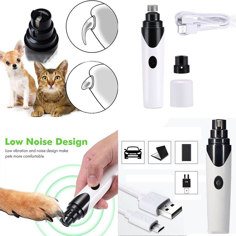 USB Rechargeable Painless Pet's Nail Grinder (Upgraded Version)