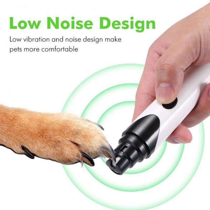 USB Rechargeable Painless Pet's Nail Grinder (Upgraded Version) - petshoppee.com