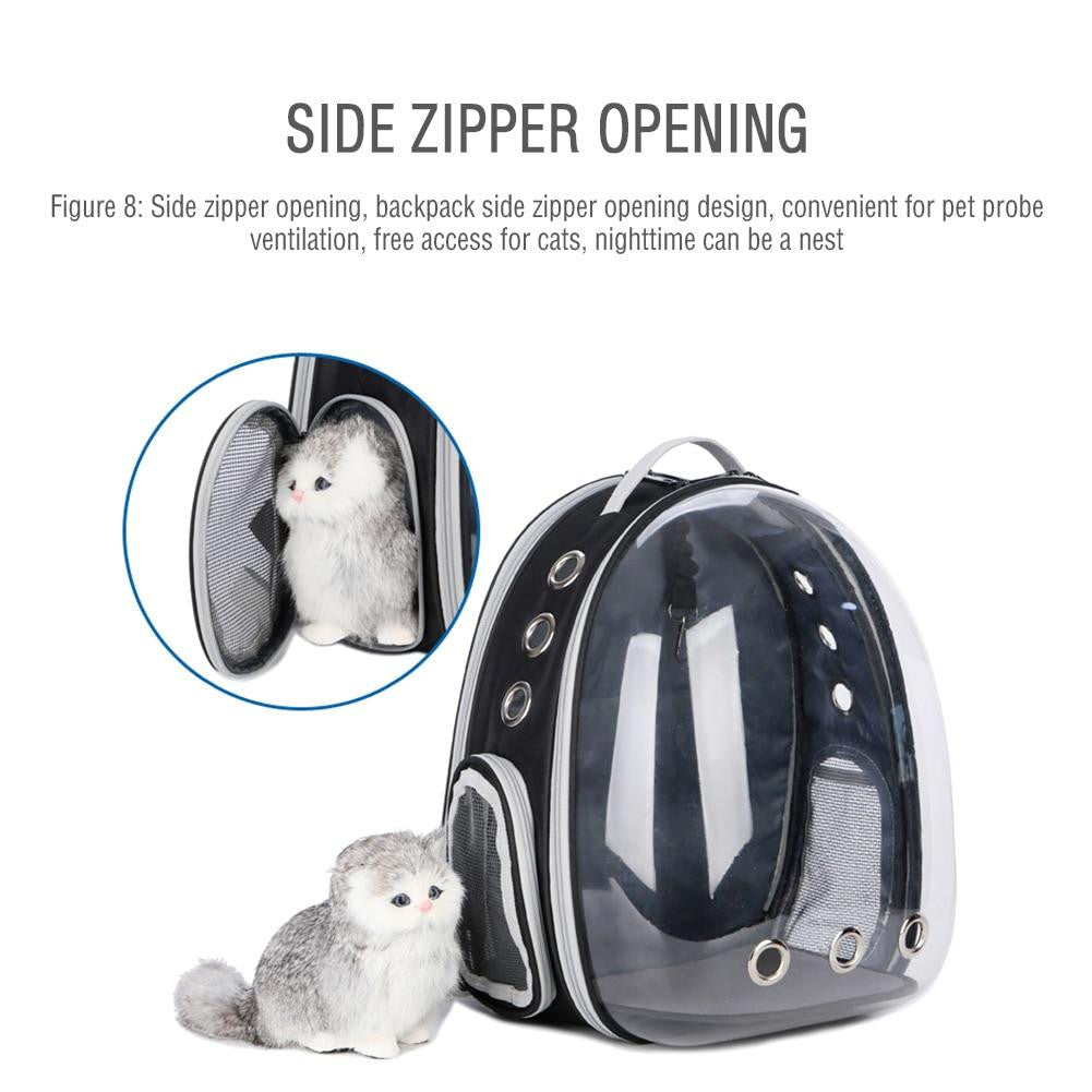 Expandable Backpack For Cats With Bubble Window - petshoppee.com