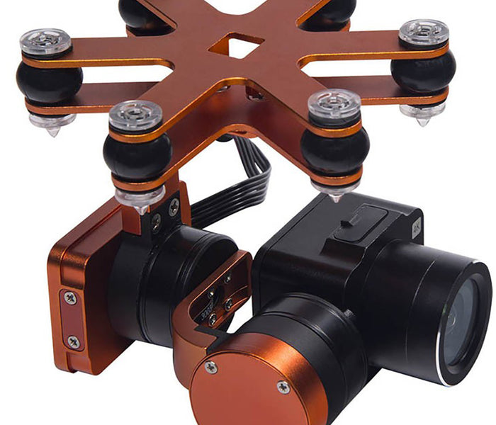 Waterproof 4K camera and 2-axis gimbal