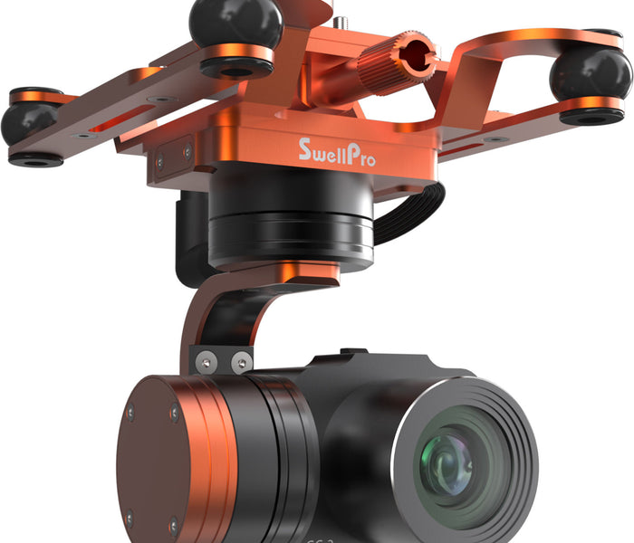 Waterproof 4K camera and 3-axis gimbal