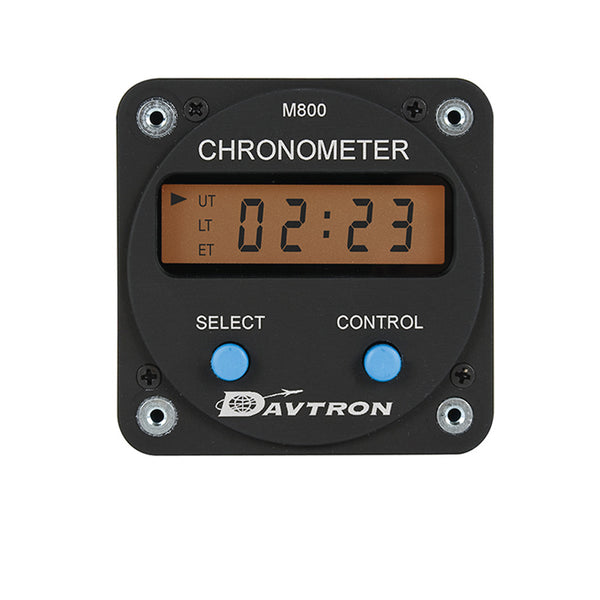 "M800 Digital Clock Chronometer | 2-1/4"" Mount, 14V Orange Backlighting"