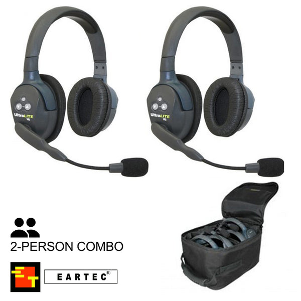 UltraLITE 2-Person Hands Free Radio Headset Combo