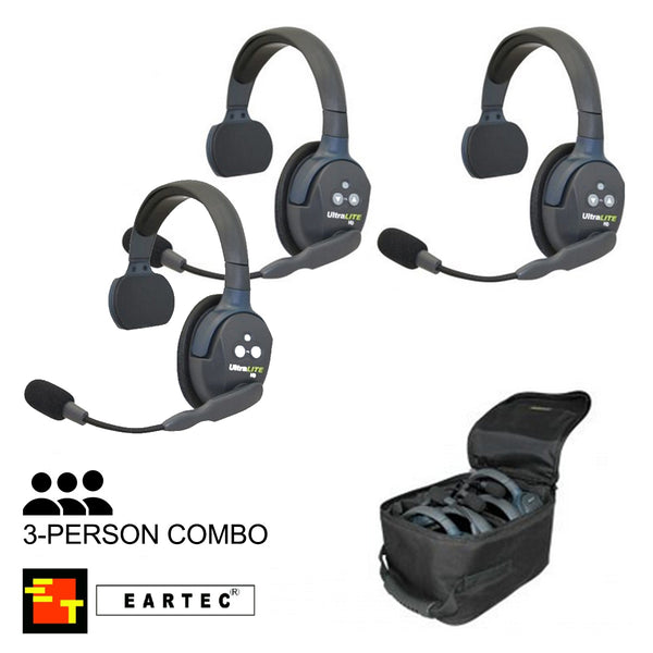 UltraLITE 3-Person Hands Free Radio Headset Combo
