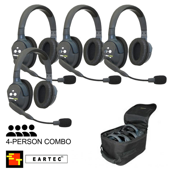 UltraLITE 4-Person Hands Free Radio Headset Combo