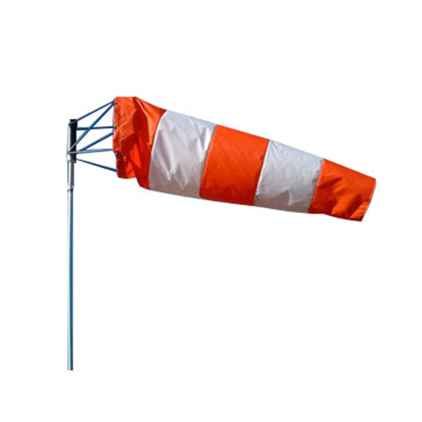 AVIATION WINDSOCK - Orange and White 18 x 96