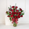 Red Rose Bouquet with Vase