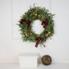 Festive Holiday Wreath, floral gift baskets, plant gift baskets