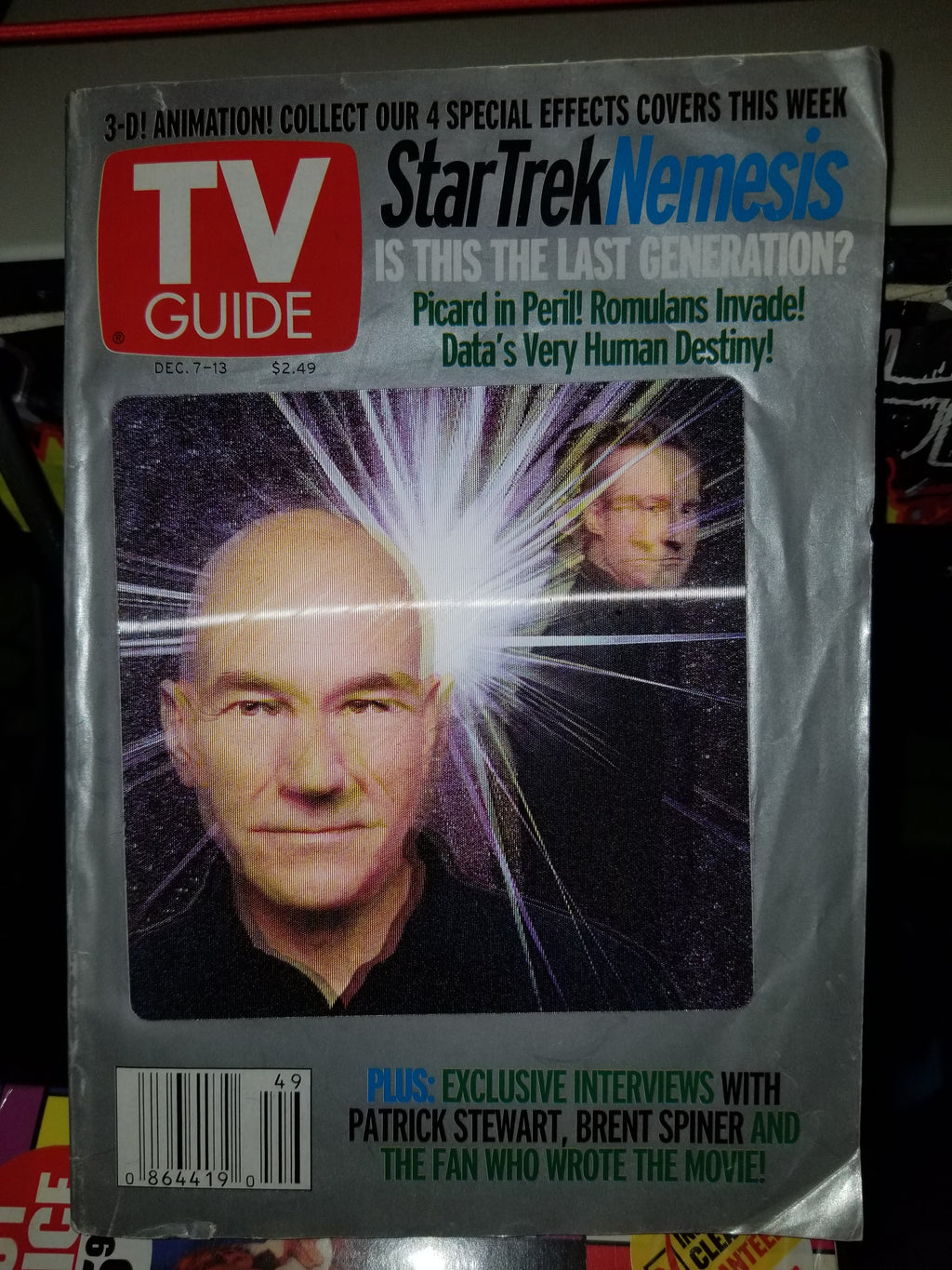 2002 TV Guide Star Trek Nemesis Lenticular Cover