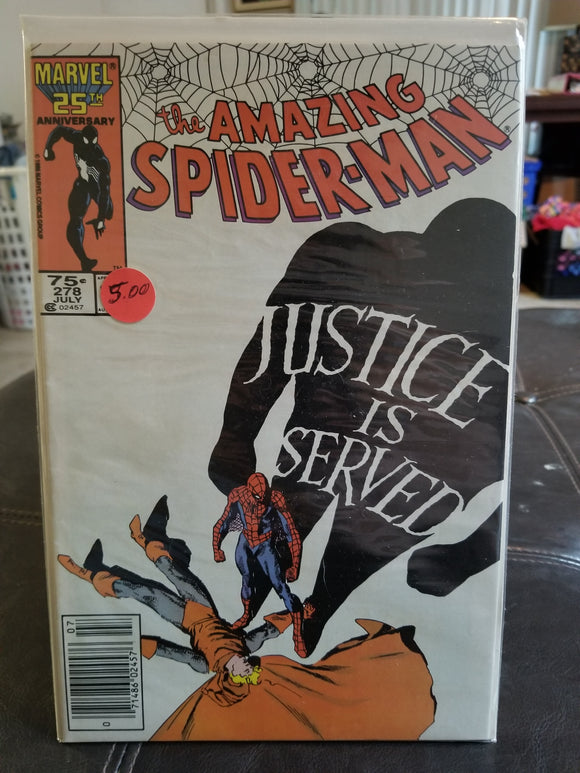 Amazing Spider-Man #278 Newsstand Version Marvel Comics - Death of Wraith