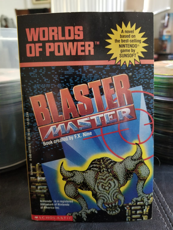 1990 World of Power Blaster Master Book based on NES Game