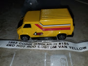 1983 Corgi UK #185 Hot Rod 4WD Custom Yellow Van