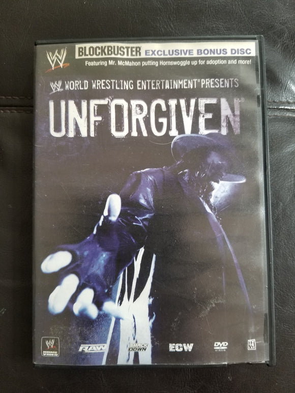 WWE Wrestling DVD 2007 Unforgiven with Rare Blockbuster Bonus Disc Edition