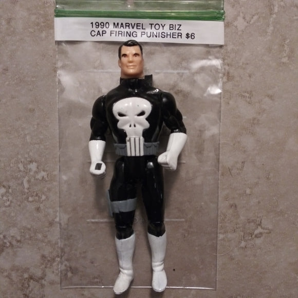 1990 Marvel/Toy Biz Cap Firing The Punisher Loose Action Figure
