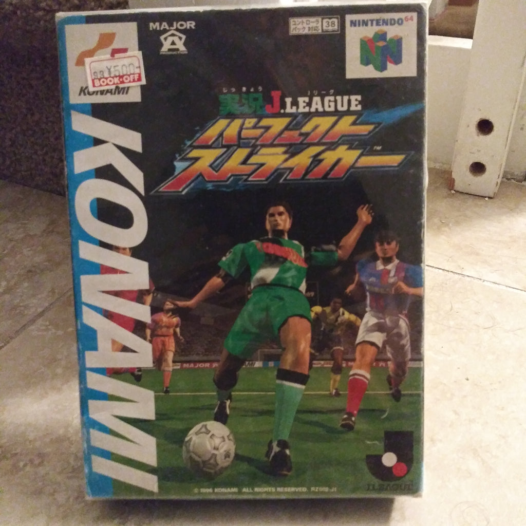 Nintendo 64 N64 JAPAN Konami Jikkyo J League Perfect Striker Soccer SEALED Game