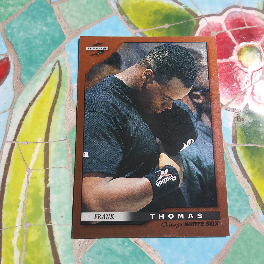 1996 Score Pinnacle Dugout Collection Insert #20 Frank Thomas