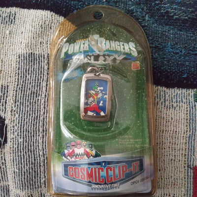 1999 Saban Power Rangers Galaxy Cosmic Clip-It Watch Sealed