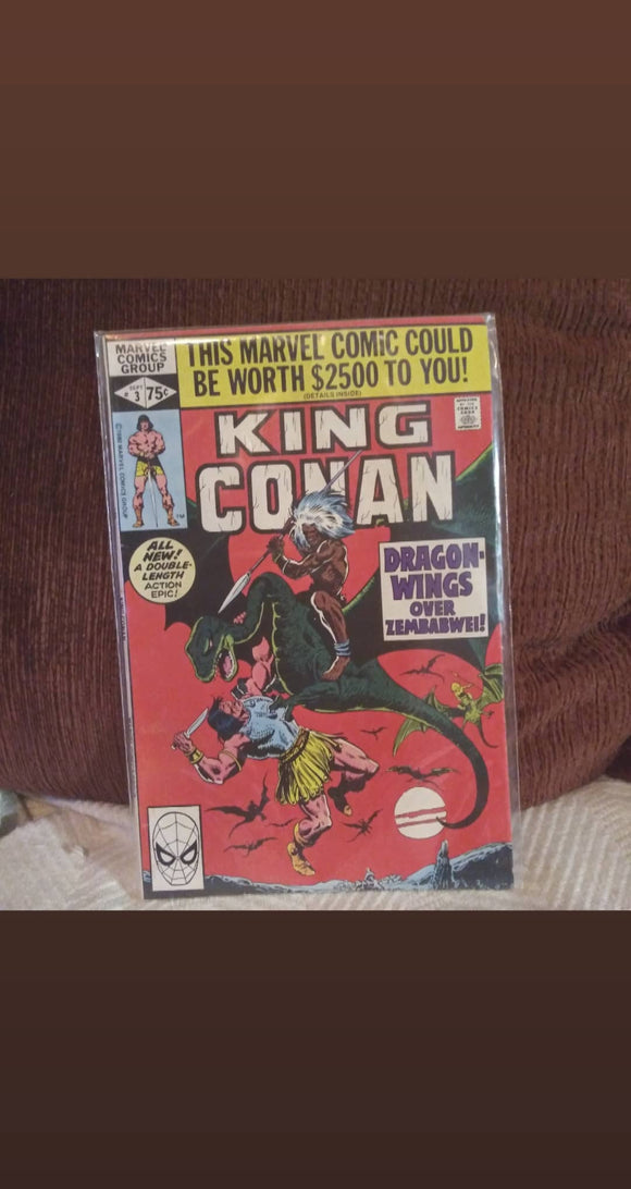 King Conan #3 (1980) Direct Edition Comicbook
