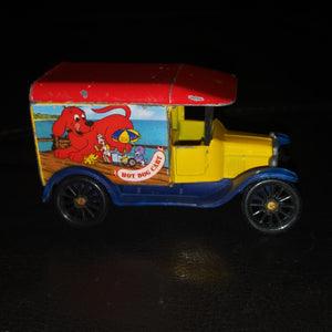 1989 Matchbox 1921 Ford Model T Rare Clifford the Big Red Dog Hot Dog Cart