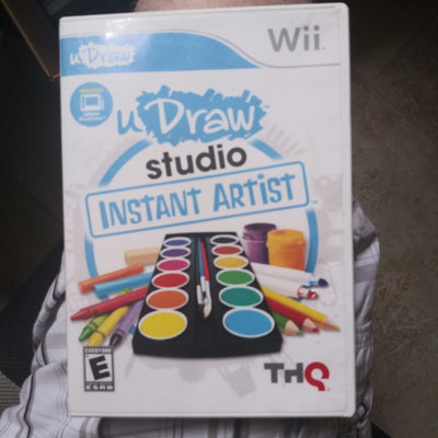 Nintendo Wii UDraw Studio Instant Artist Case and Disc Only