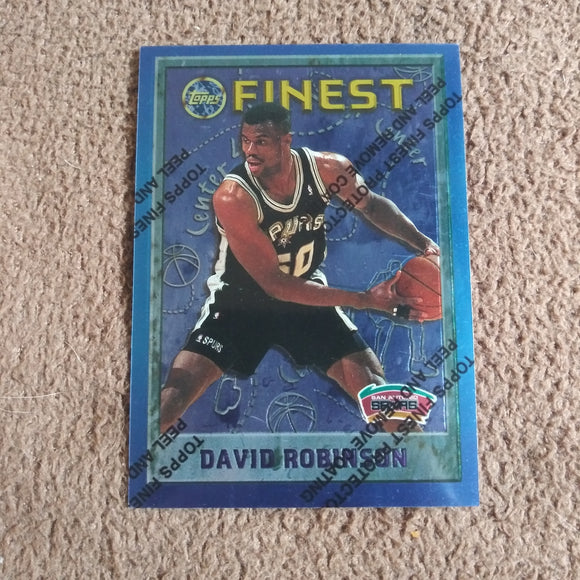 1995-96 Topps Finest #245 David Robinson Spurs
