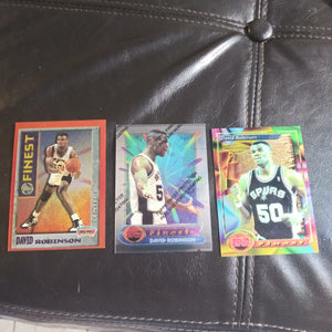 3 card David Robinson Spurs Topps Finest lot
