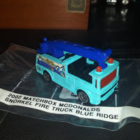 2002 Matchbox McDonald's Snorkle Blue Ridge Fire Truck