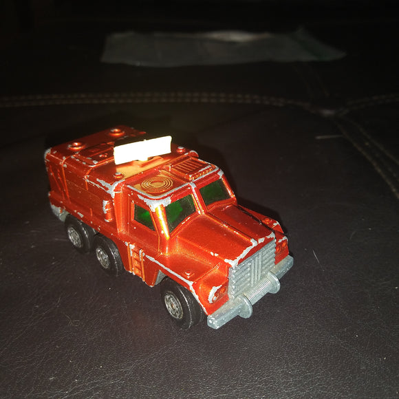 1973 Matchbox / Lesney (UK) Rolamatics #16 Badger Red Radar Truck