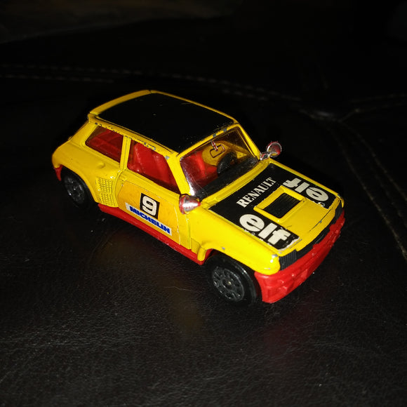 1981 Corgi Elf Rally Car UK #9 Renault 5 Turbo Yellow Die-Cast Car